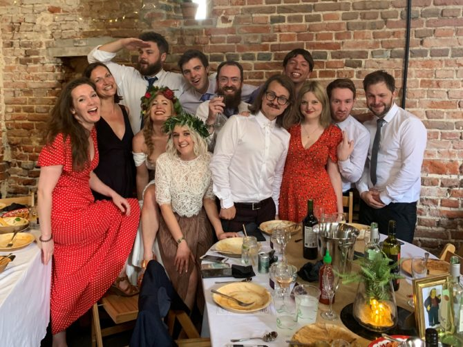 Bex, Camilla, Simon, Christa, Siobhan, James, Clark, Biff, Cat, Matt Hull and Matt Montagano. And me, obviously, hiding at the back of what was supposed to be a quick photo but just kept growing...