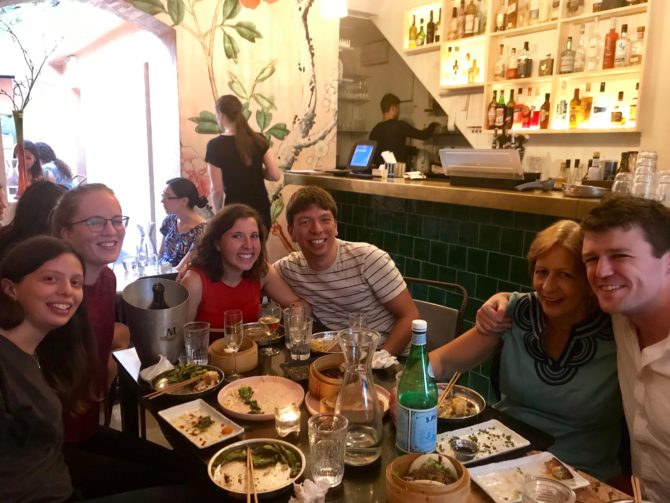 Katie, Kim, Randi, me, mum and Cormac. Not pictured: a flying cappuccino.