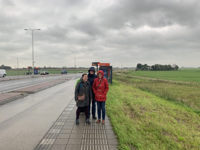 The moment we alighted at a bus stop by a motorway in the middle of nowhere and I asked everyone to keep faith in the waggon