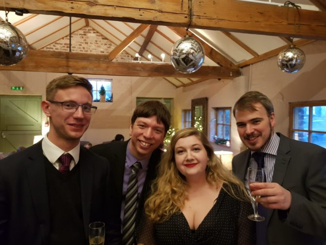 A happier real-life me with Patrick, Ellie & Rob