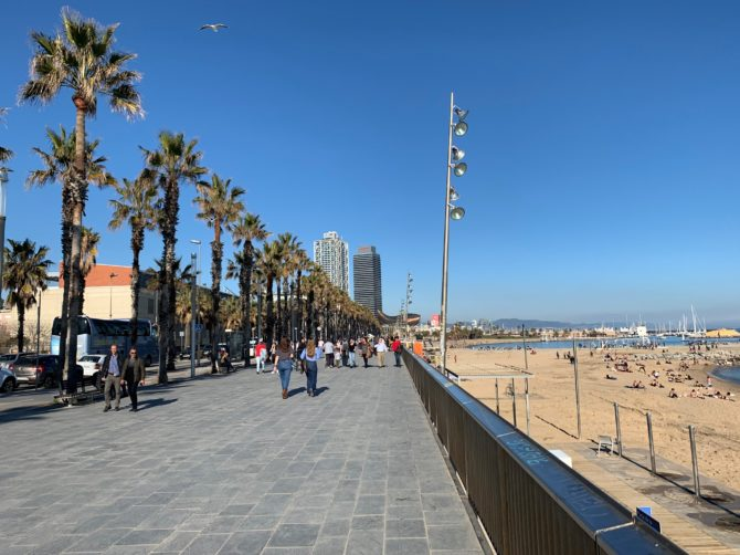 Nothing but blue skies and single markets in Barcelona