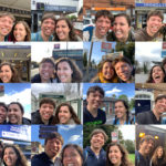 The real purpose of this exercise was to assemble a set of 24 selfies from each section's transport stop