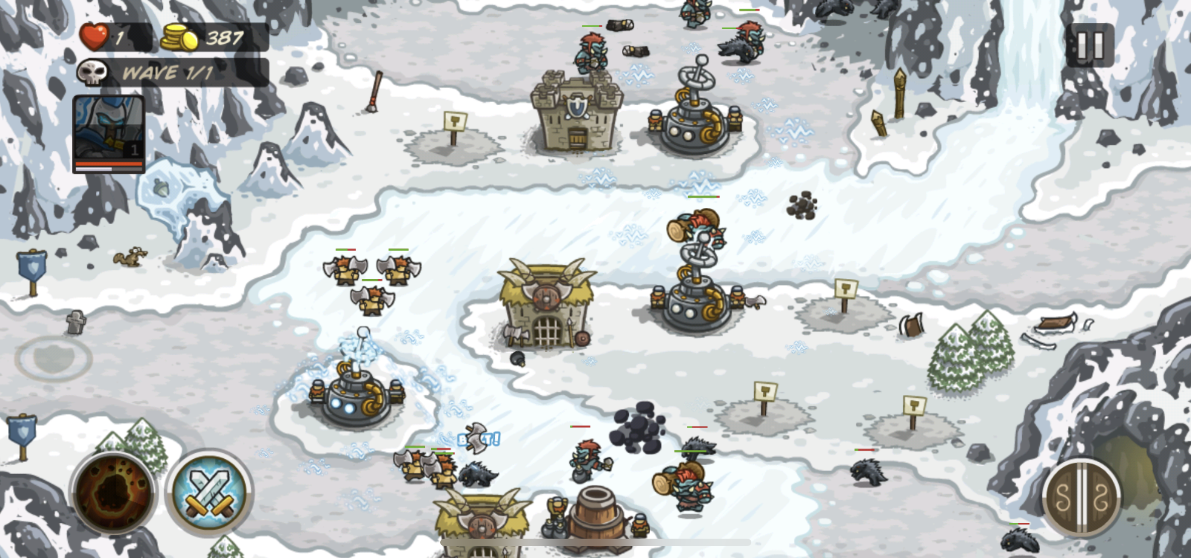 The housebuying process in winter (and definitely not a screenshot from Kingdom Rush)
