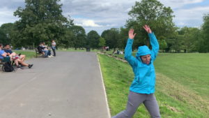 Filming in Brockwell Park