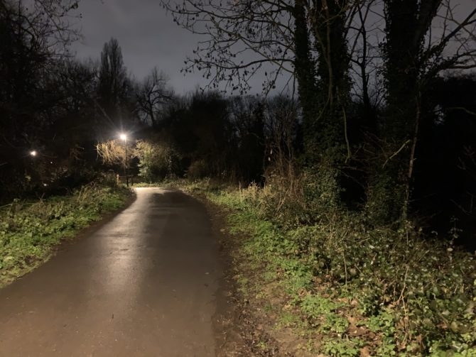 A night-time walk in the countryside