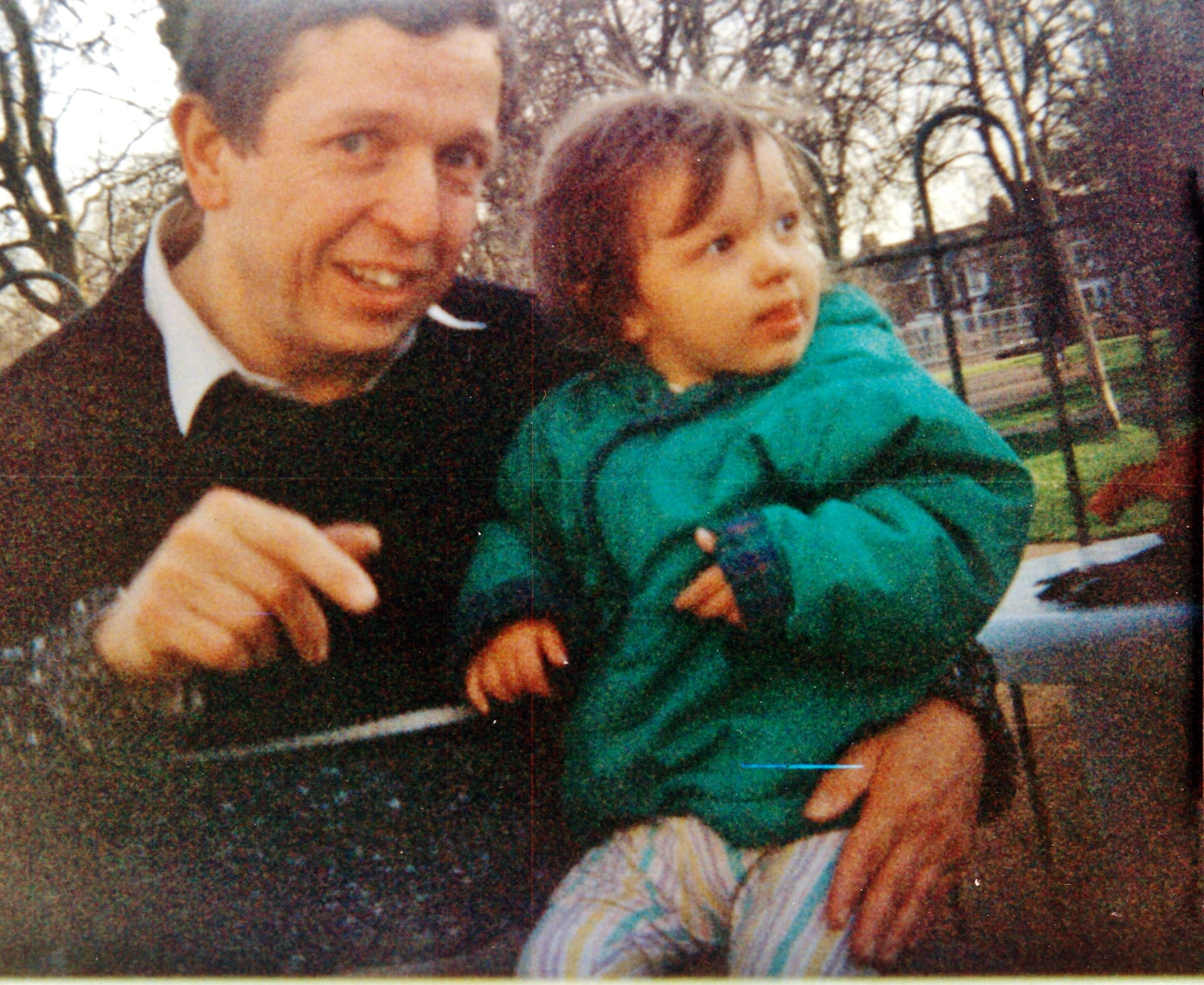 One of my favourite photos of dad and Tash, which I took in Queen's Park