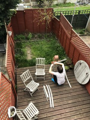 We've also picked up some garden furniture, along with the rest of the country