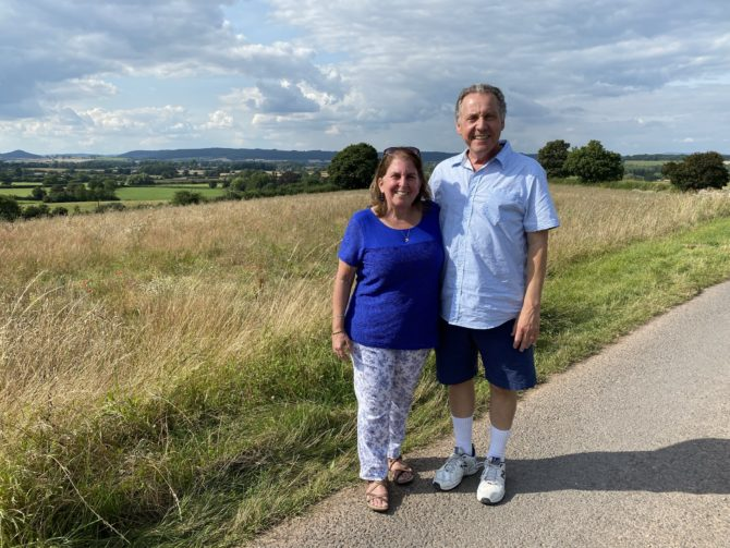 One of our many walks through the English countryside