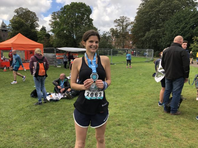 Becca with her marathon medal